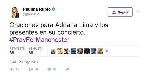 Paulina Rubio twitter