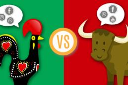 Cabecera portugal vs españa redes sociales
